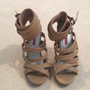 C Label Strappy Heels